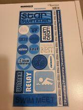 Scrapbooking Stickers Swimming NEW Blue Swim Team Swimmer Reminisce