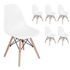Lot de 6 chaises design tendance rétro eiffel bois chaise de salle à manger
