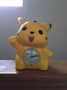 Solina Pokemon Pikachu 90s 'Good Morning!' Alarm Clock Rare Vintage