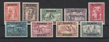 RUANDA-URUNDI, 1930 Freimarken mit Aufdruck 34-42 **, (26775)
