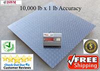 "5x5 10,000 x 1 lb Floor Scale Pallet Scale 60"" x 60"" 5 Year MFG Warranty"