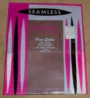 SEAMLESS Exquisite Hosiery Italy Sz 10  L New PKG TRUE VINTAGE!1960s-1970s