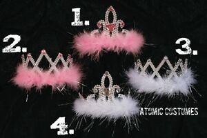 Feather Tiaras Gemstone Tiara Girls Child Kids Princess Angel Costume Crown Gem