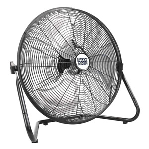 Portable 20 in. High-Velocity Floor Fan 3-Speed Tilting Head with Carry Handle