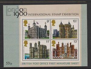 Great Britain/GB - 1978, British Architecture, 1980 Exh. sheet - MNH - SG MS1058