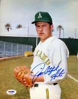 Jim Catfish Hunter Psa Dna Coa Autographed 8x10 Photo  Hand Signed Authentic
