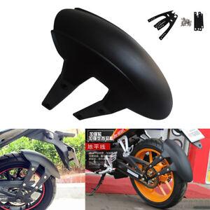 Black PVC Motorcycle Rear Wheel Cover Fender Splash Guard Mudguard with Bracket