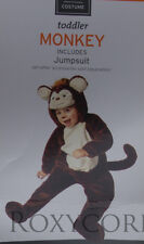 Halloween Toddler Brown Monkey Jumpsuit Plush Costume Size 18-24 Months NWT
