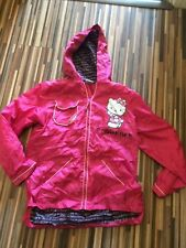 GREAT CONDITION GIRLS 13 YEARS HELLO KITTY PINK RAINCOAT/JACKET IN A TRAVEL BAG