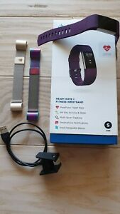 Fitbit Charge 2 Heart Rate Fitness Wristband Plum Small Fb407spms