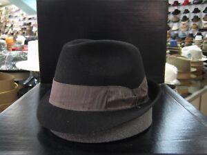 BORSALINO BLACK FUR FELT TRILBY DRESS HAT (READ DESCRIPTION SIZE)