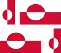 4 x Aufkleber Auto Sticker tuning motorrad Autoaufkleber Fahne Flagge greenland
