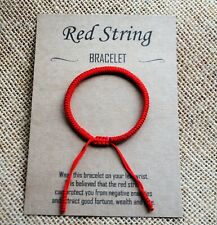 Red String Wish Bracelet against Evil Eye / Lucky Kabbalah Good Fortune Talisman