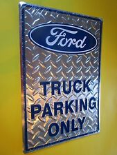 tin metal decor gas oil dealer garage repair shop advertising ford truck m395