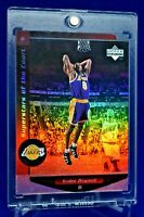 KOBE BRYANT UPPER DECK SUPERSTARS OF THE COURT RAINBOW REFRACTOR LAKERS SP RARE