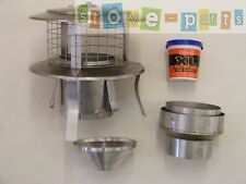 """5-6"""" Stove Flue liner Instalation Kit + All-in-one Cowl"""