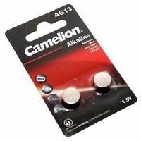 2er Pack Camelion AG13 Alkaline 1,5V Knopfzelle Batterie | G13 LR44 A76 SR44W GP