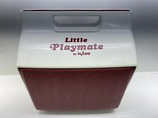 Vintage 1998 Igloo Little Playmate Lunchbox Beer Can Insulated Cooler Red White