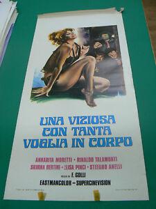 LOCANDINA manifesto Una Viziosa con Tanta Voglia in Corpo-Annarita Moretti- 1975