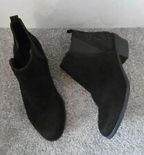 Dorothy Perkins Black Embroidered Detail Low Heel Ankle Boots Size UK 5 EU 38