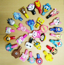 3Pcs Cute Lovely Cartoon Animal Earphone Wrap Cord Cable Holder Winder Organizer