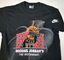 VTG Nike Michael Jordan's Restaurant T Shirt Small Made USA Black Chicago Bulls