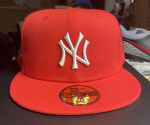 New! Hat Club Exclusive New York Yankees World Series 1999 Red White Size 8
