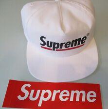 Brand New SUPREME Underline 5 Panel Cap Hat  White  One Size