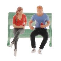 3pc RM 1:64 Diorama Chatting Doll Figure Collezioni Modello Outdoor Per Siku