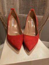 Brian Atwood Red Suede Voyage Pumps Size 39 $249