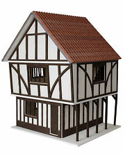 Stockwell Tudor Style Dolls House 1:12 Scale - Unpainted Collectable House Kit