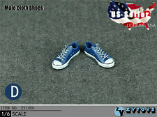 1/6 Men Shoes Converse Lace Up Sneakers NAVY For Hot Toys Phicen Male Figure