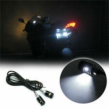 2  WHITE SMD LED 12V BLACK LICENSE PLATE SCREW BOLT LIGHT/LAMP/BULB