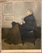 Portrait Of Thomas Carlyle Large Antique Mezzotint Engraving After Whistler