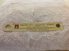 Celluloid  Ruler Magnifier For Cream City Chemical Works, Milwaukee