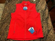 Columbia Reed Lake EXS Softshell men Red vest sz Medium M New $100 Retail