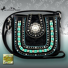 Montana West Beaded Concho Collection Cross body Bag