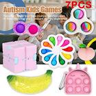 7 Pack Sensory Simple Fidget Toys Set Stress Relief ADHD Autism Kids Games Tools