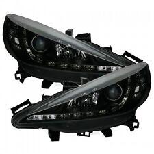 PEUGEOT 207 (2006-2013) BLACK Halo ANGEL EYE Proiettore Fari Anteriori luci