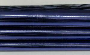 METALLIC NAVY BLUE Italian Lambskin leather skin skins 0.8mm 7sqf #A7249