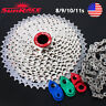 SUNRACE 8-11S 11-40/42/46T Aluminum MTB Bike Cassette KMC Chain Chains Sprocket