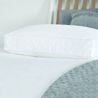 Microfibre Box Wall Pillows Square Edge Feel as Down Hotel Quality Cotton Cover
