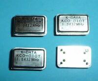 4x org. K-Data Quarzoszillator KCO-010T 1,8432 MHz TTL 4 Pin NOS