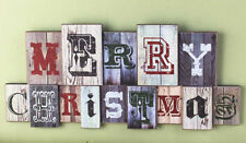 Festive MERRY CHRISTMAS Holiday WALL HANGING, NEW!