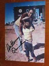 ANTHONY QUINN 4x5 photo  AUTOGRAPHED