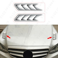 2x Fit For All Cars All Model Front Machine 3D Decorator Cover Sticker Universal