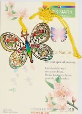 Traditional Korean reader Metal Bookmark - Butterfly03
