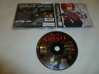 PLAYSTATION PS1 VIDEO GAME DINO CRISIS COMPLETE W CASE & MANUAL CAPCOM SONY >>