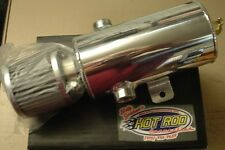OIL CATCH TANK,  BREATHER W/REUSIBLE FILTER POLISHED ALUMINUM TURBO