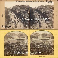 20 Stereoviews di Parigi, Lot 1, France Francia 1855 - 1900 immagini Stéréo